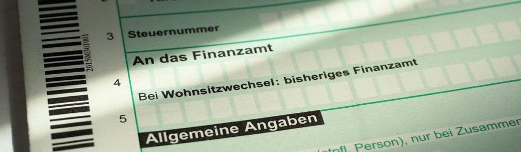 Vordruck Steuererklärung